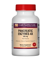 Pancreatic Enzymes 4x - Vegetarian, 500mg, 90 Veg Capsules