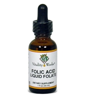 Folic Acid Liquid 400mcg, 1oz by Vitality Works