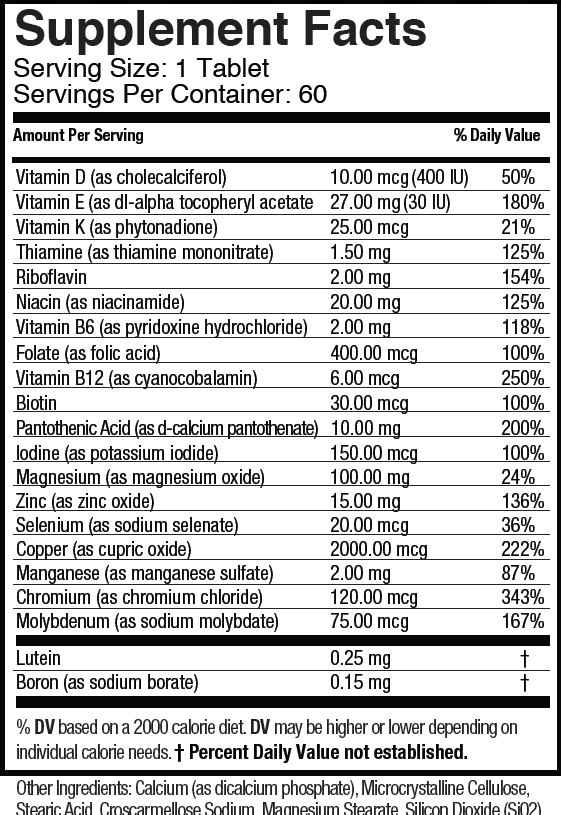 Multi-Vites Supplement Facts
