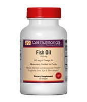 Fish Oil, Omega-3, 1000 mg, (300mg EPA DHA) 60 Softgels