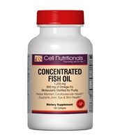 Concentrated Fish Oil 1200mg (600mg Omega-3's), 180 Softgels