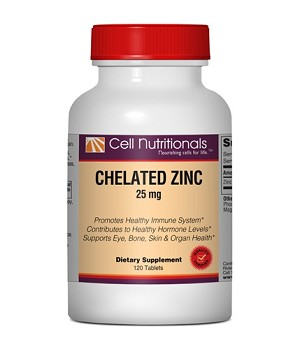 Chelated Zinc, 25 mg, 120 Tablets